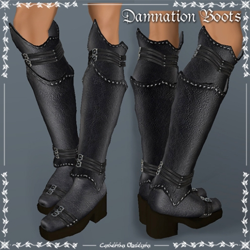 Damnation Boots by Caverna Obscura