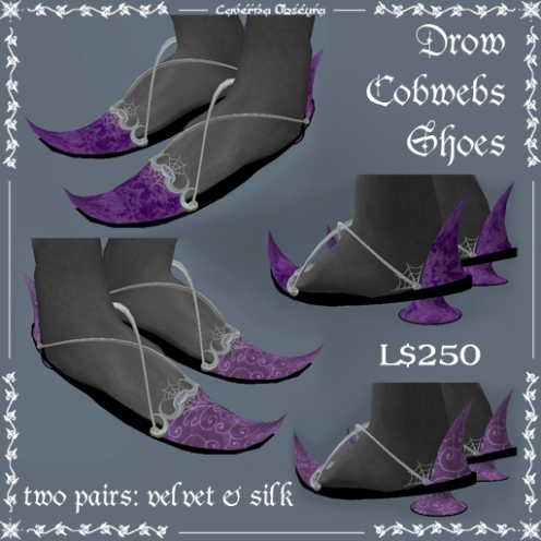 Drow Cobwebs Shoes by Caverna Obscura