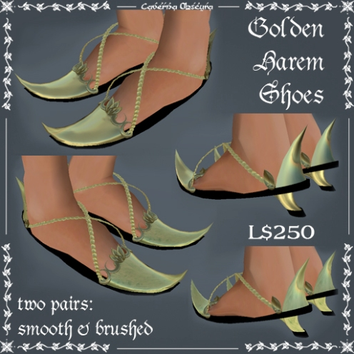 Golden Harem Shoes by Caverna Obscura