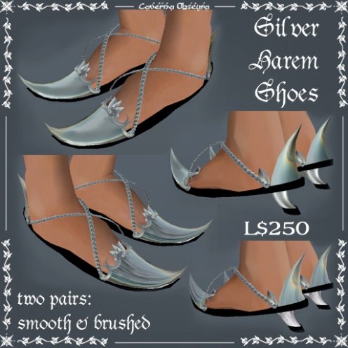 Silver Harem Shoes by Caverna Obscura