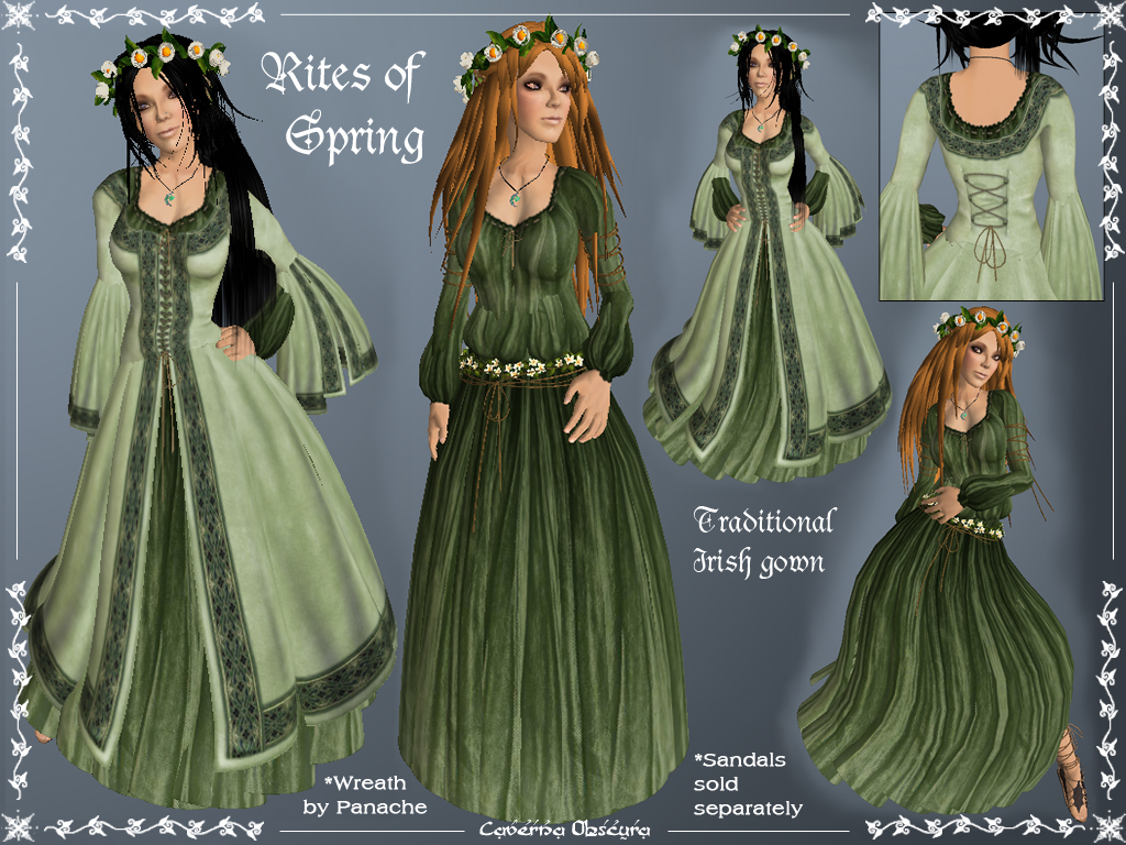 Rites of Spring Celtic Gown by Caverna Obscura | Caverna Obscura ...