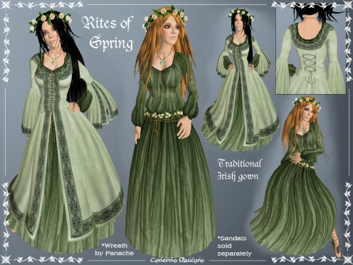 Rites of Spring Celtic Gown by Caverna Obscura