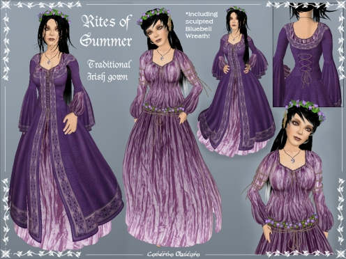 Rites of Summer Celtic Gown by Caverna Obscura