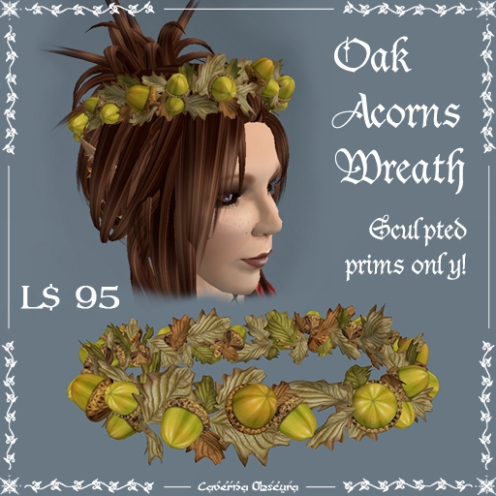 Oak Acorns Wreath by Caverna Obscura