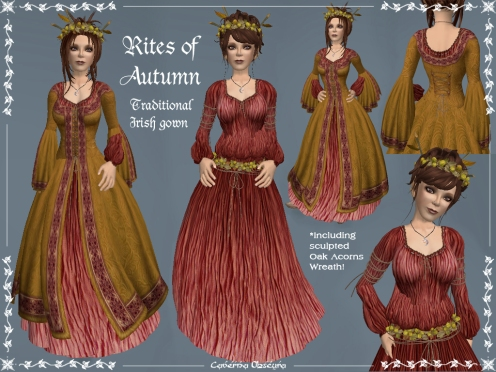 Rites of Autumn Celtic Gown by Caverna Obscura