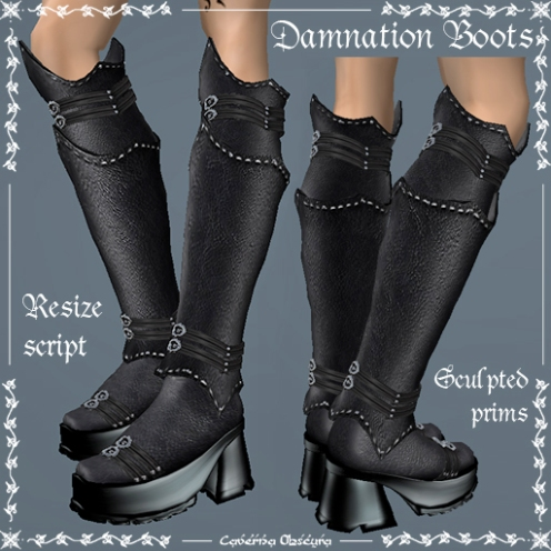 Updated Damnation Boots by Caverna Obscura