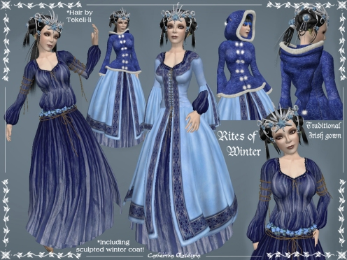 Rite of Winter Celtic Gown by Caverna Obscura