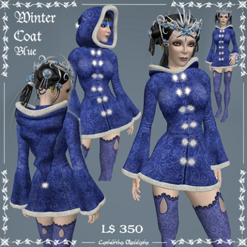 Winter Coat in Blue by Caverna Obscura