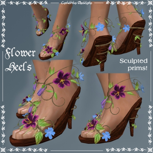 Flower Heels by Caverna Obscura