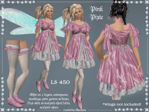 Pink Pixie Outfit by Caverna Obscura