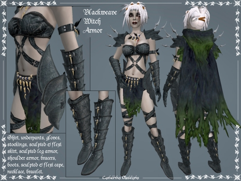 Blackweave Witch Armor by Caverna Obscura