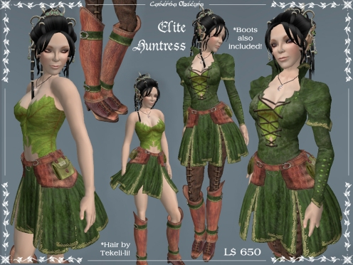 Elite Huntress Outfit by Caverna Obscura