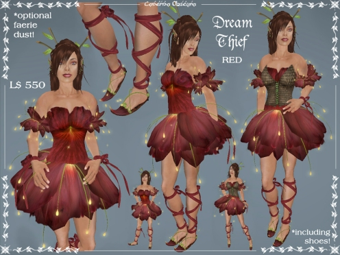 Dream Thief Outfit in Red by Caverna Obscura