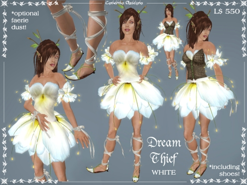 Dream Thief Outfit in White by Caverna Obscura