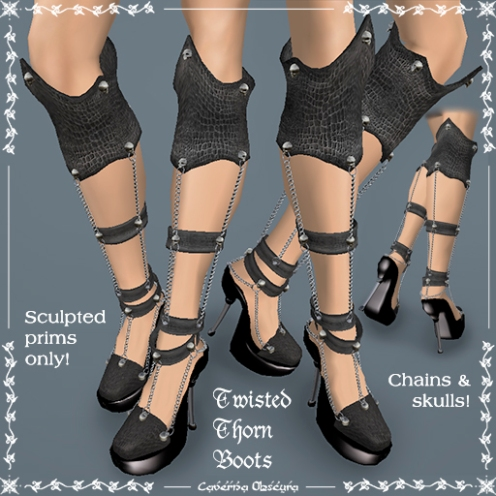 Twisted Thorn Boots by Caverna Obscura