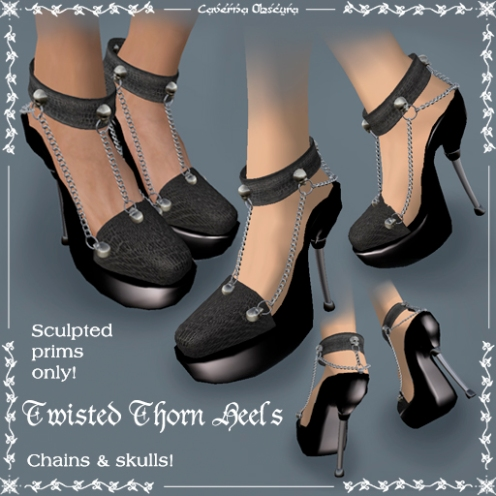 Twisted Thorn Heels by Caverna Obscura