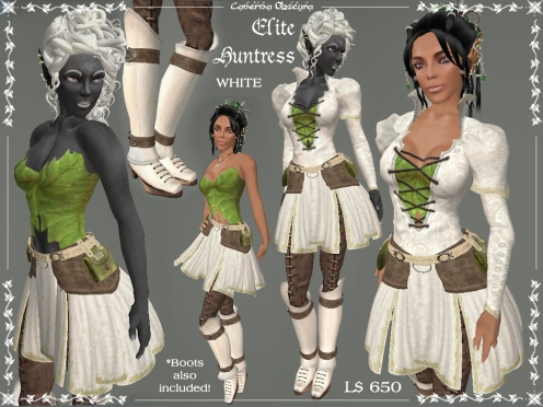 Elite Huntress Outfit in White by Caverna Obscura