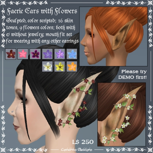 Faerie Ears with Flowers by Caverna Obscura