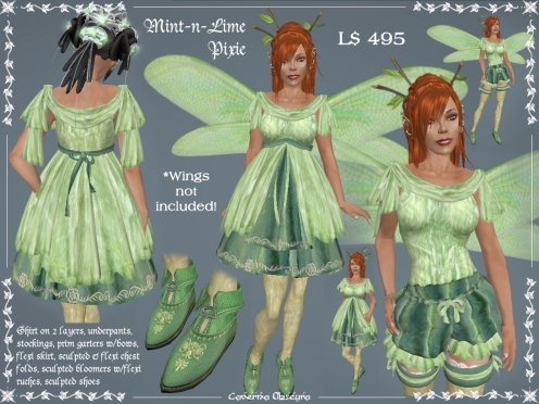 Mint-n-Lime Pixie Outfit by Caverna Obscura