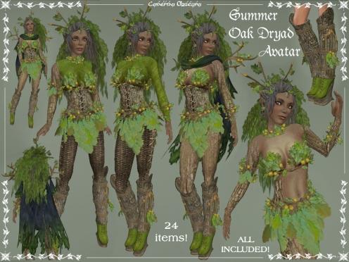 Summer Oak Dryad Avatar