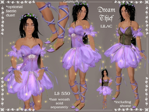 Dream Thief Outfit in Lilac by Caverna Obscura