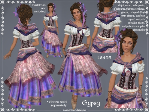 Gypsy Outfit in Purple by Caverna Obscura