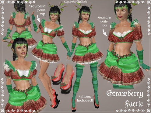 Strawberry Faerie Outfit by Caverna Obscura