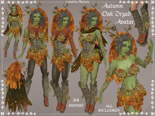 Autumn Oak Dryad Avatar by Caverna Obscura