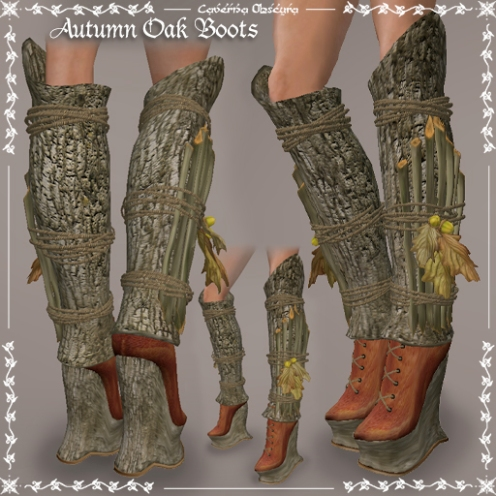 Autumn Oak Boots by Caverna Obscura