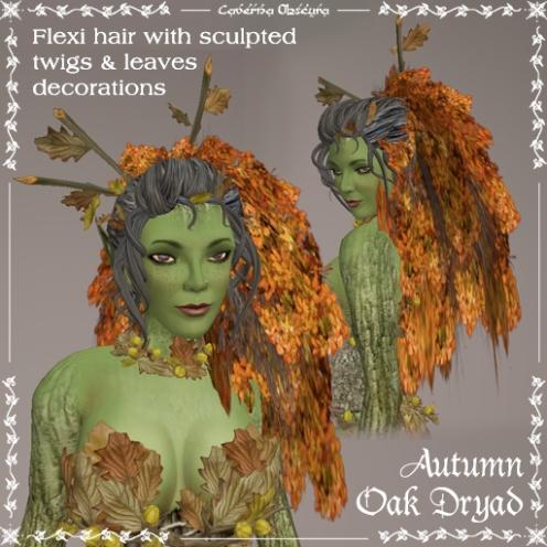 Autumn Oak Dryad Hair