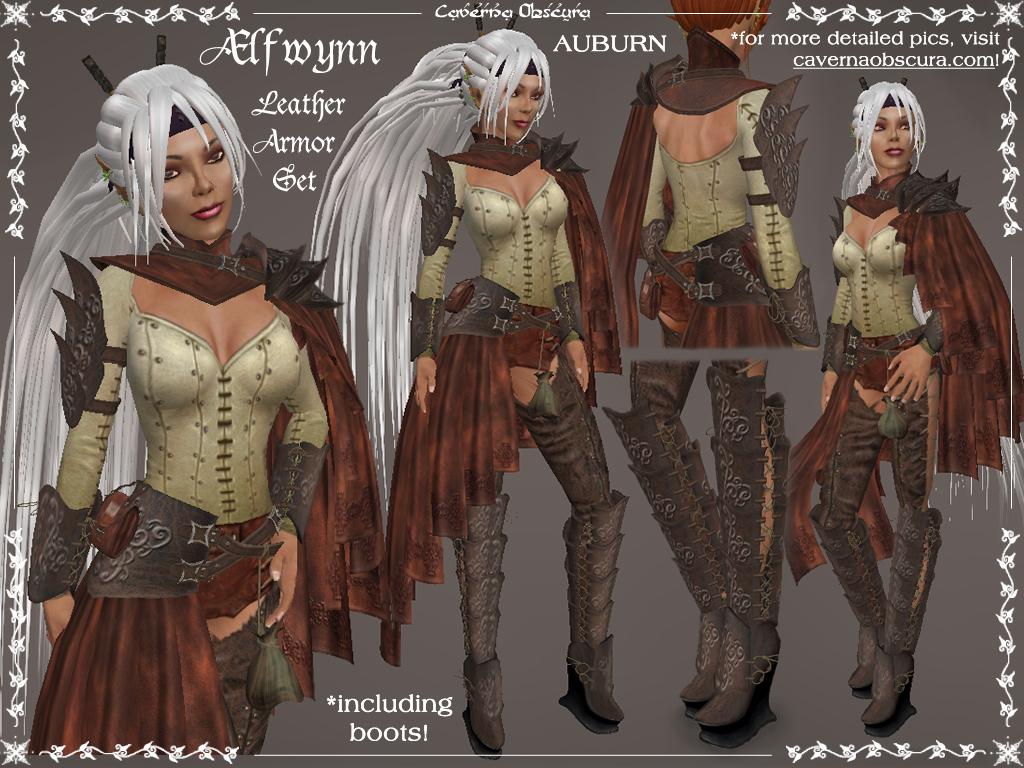198 Lfwynn Leather Armor In Auburn By Caverna Obscura