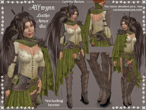 Ælfwynn Leather Armor Set by Caverna Obscura