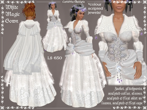 White Magic Gown by Caverna Obscura