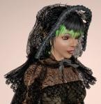 Cobweb Lace Cloak BLACK02