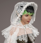 Cobweb Lace Cloak WHITE01
