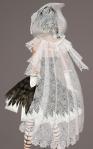 Cobweb Lace Cloak WHITE03