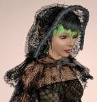 Floral Lace Cloak BLACK01