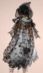 Floral Lace Cloak BLACK03