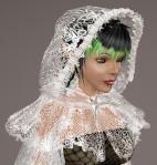 Floral Lace Cloak WHITE01