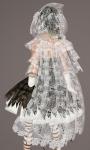 Floral Lace Cloak WHITE03
