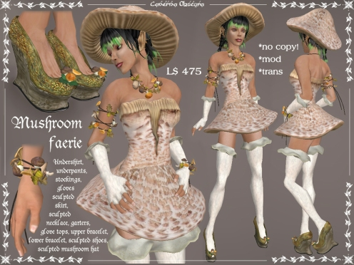 Mushroom Faerie Outfit by Caverna Obscura