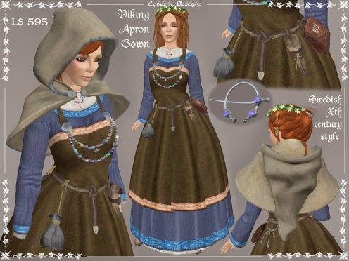 Authentic Viking Apron Gown by Caverna Obscura