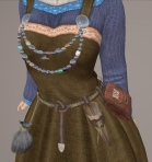 Viking Apron Gown BLUE02