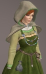 Viking Apron Gown GREEN03