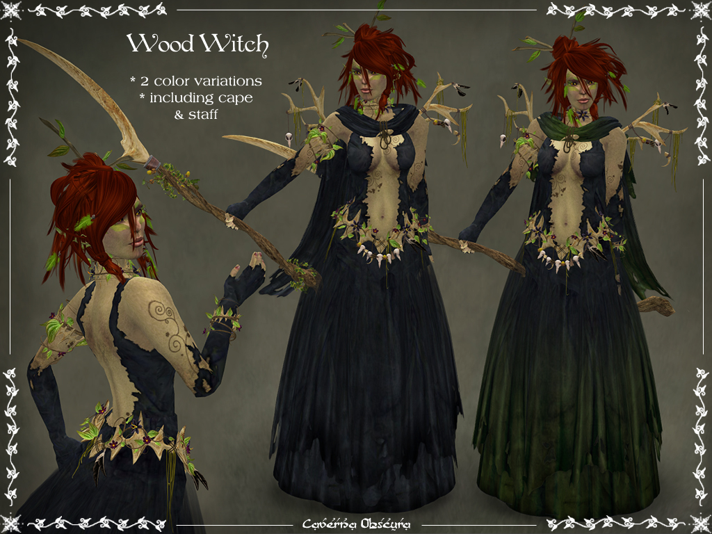 Wood Witch Outfit Update | Caverna Obscura . . fantasy ...Witch Of Life Outfit
