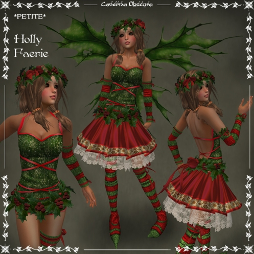 *PETITE* Holly Faerie Outfit by Caverna Obscura