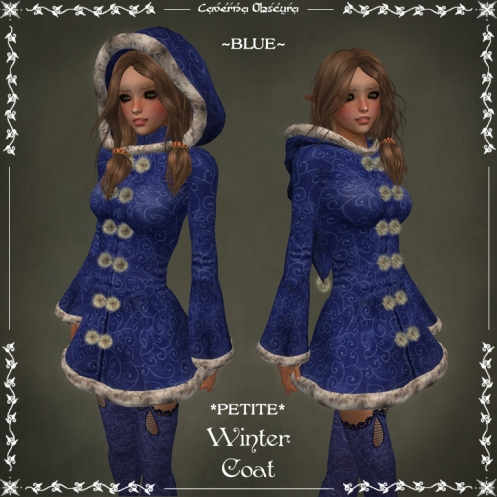 *PETITE* Winter Coat ~BLUE~ by Caverna Obscura