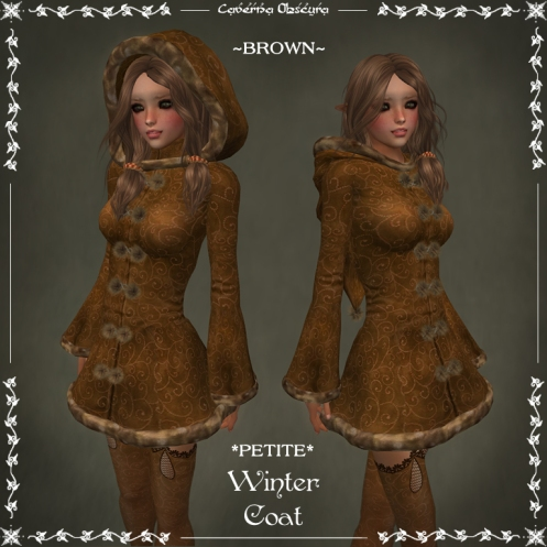*PETITE* Winter Coat ~BROWN~ by Caverna Obscura