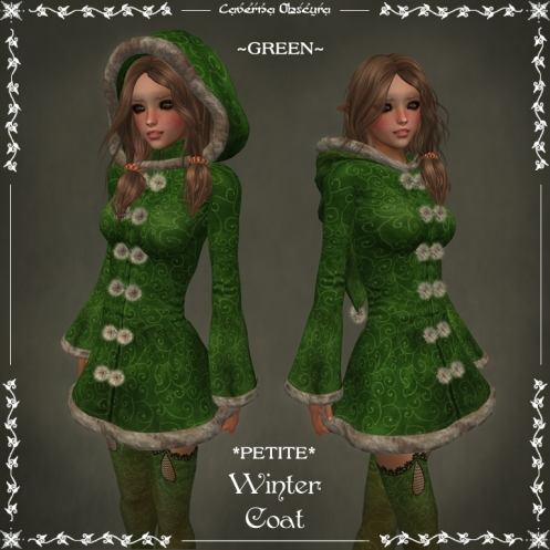 *PETITE* Winter Coat ~GREEN~ by Caverna Obscura