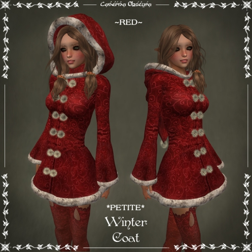 *PETITE* Winter Coat ~RED~ by Caverna Obscura